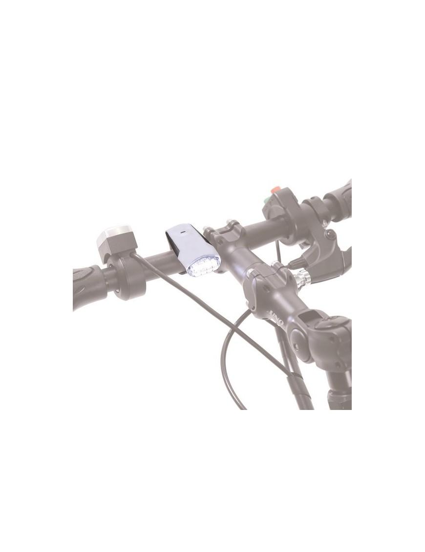 LUCE ANTERIORE LED RICARICABILE CON USB PER TIBODA