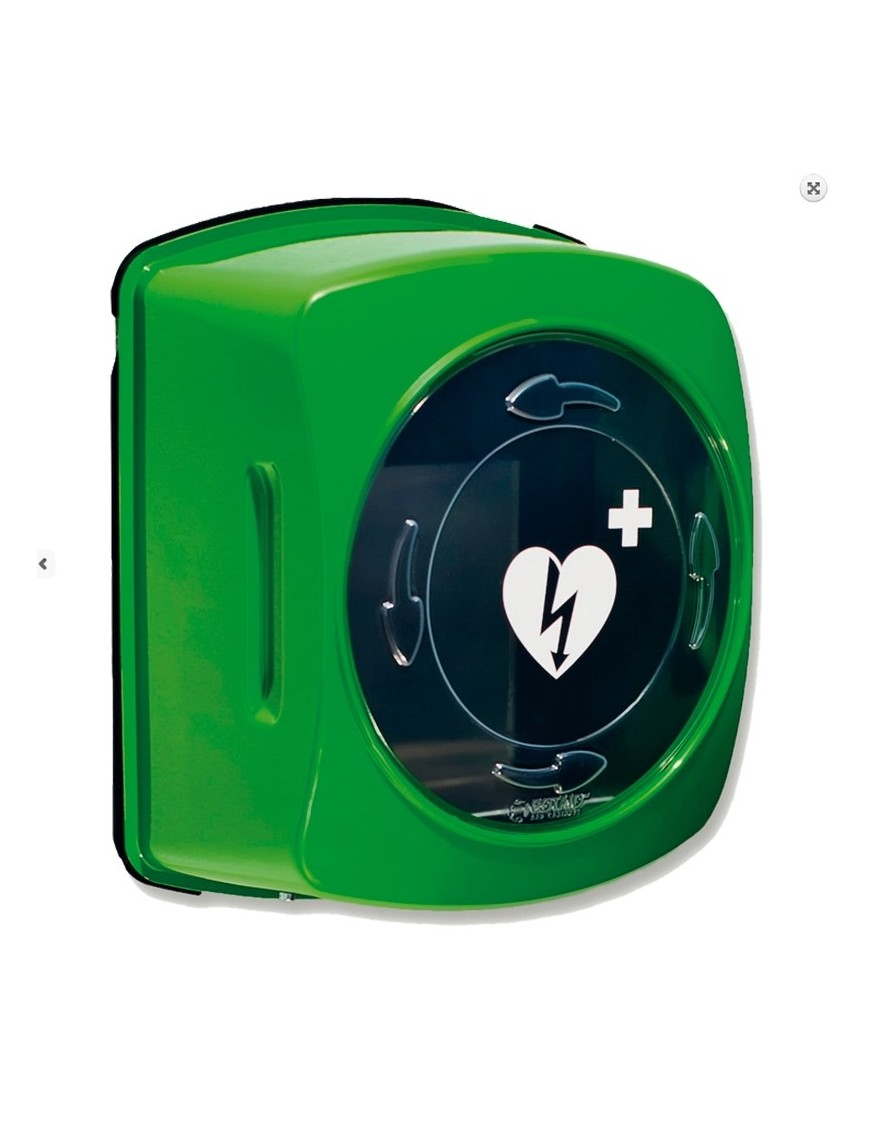 Teca defibrillatore per interni in plastica, rotante