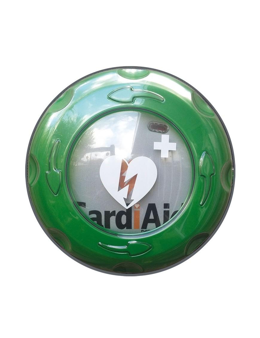 Teca defibrillatore per esterni in plastica, rotante - riscaldata e allarmata