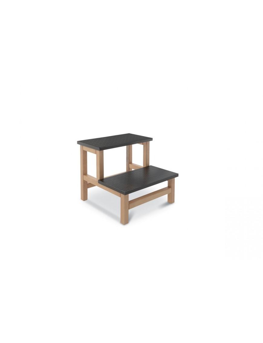 Predellino in legno di faggio - 2 gradini